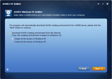AOMEI PE Builder - Download